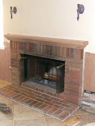 brick fireplace remodel faux stone veneer cleaning bricks inside bricked up damp no vent