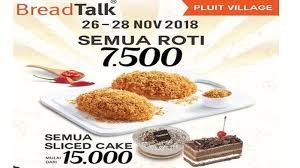 Promo Breadtalk Semua Roti Hanya Rp 7500 Dan Cake Mulai Rp 15000