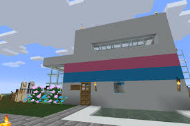The pink dream house is a map minecraft for girls, featuring a large beautiful mansion surrounded by picturesque landscapes and lovely scenery. How To Build A House In Minecraft Polygon