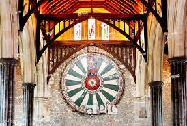 stock photo king arthur s round table in the great hall winchester hampshire