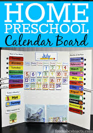 make your own diy calendar board for home preschool it s super simple and your preschooler