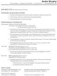 Example Of Artist Resume 19 Sample Art Format Makeup Visual
