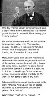 acirc best memes about my teacher my teacher memes crying family and saw one day thomas edison cahoand gave a
