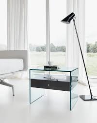 Nightstand Dazzling Shelf Nightstand Round Glass Bedroom