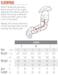 Hockey Elbow Pad Size Chart Www Totalhockey Com Ui Sizing Easton Protective