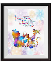 Uhomate Nursery Decor Winnie The Pooh Quotes Winnie Pooh Home Canvas Prints Wall Art Anniversary Gifts Baby Gift Inspirational Quotes Wall Decor