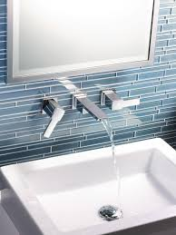 modern waterfall faucet for your bathroom faucet idea wall mounted waterfall faucet with hot and