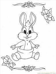 Cute Bunny Coloring Pages Free Printable Coloring Page Baby Bunny