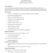 Resume With Career Objective Fearsome Objective Resume Sample