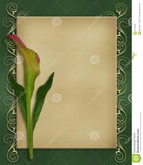 calla lily invitation card template stock photography image  calla lily invitation card template