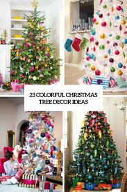 23 Colorful Christmas Tree Dcor Ideas