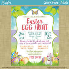 easter egg hunt template easter egg hunt flyer invitation poster template church