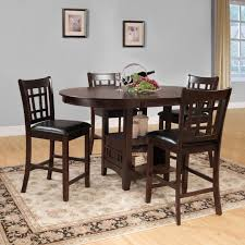 solid wood dining room table new homelegance junipero 5 piece counter height dining table set of