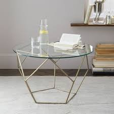 image of west elm coffee table glass top