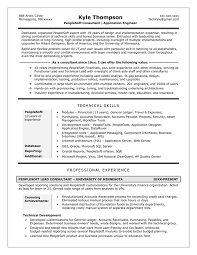 People Soft Consultant Resume Technical Consultant Resume Sample Gallery Creawizard 20
