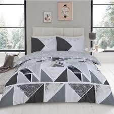 mila geometric single duvet cover set