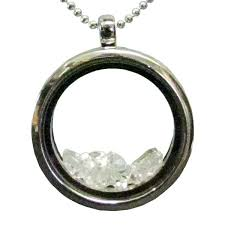 herkimer diamond glass locket and chain
