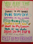 stuff to write to your best friend