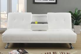 Small Picture White Leather Twin Size Sofa Bed Steal A Sofa Furniture Outlet