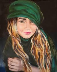 saatchi art gypsy girl original oil painting portrait painting by nersel zur muehlen