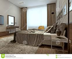 High Tech Bedroom Bedroom Interior High Tech Style Stock Illustration Image 59212198