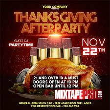 thanksgiving party flyer flyer template thanksgiving party mixtapepsd com