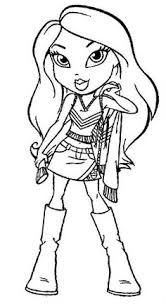 Small Picture Bratz dolls coloring pages for kids printable free Coloring