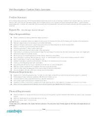 Cashier Resume Description Inspiration Manager Job Description For Resume Cashier Job Description Resume