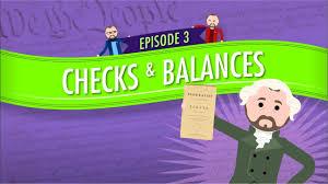 Checks And Balances Chart Answer Key Separation Of Powers And Checks And Balances Crash Course Government And Politics 3