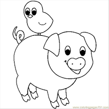 Small Picture Pig Coloring Page Free Pig Coloring Pages ColoringPages101com