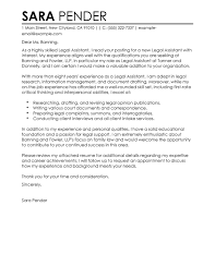 Legal Assistant Cover Letter Legal Assistant Resume Cover Letter