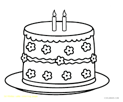 Coloring Page Birthday Cake Pages For Cakes Print Wishes Season