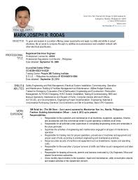 Skills Abilities For Resume Gorgeous Resume Engr Mark Joseph R Rodas April 44 44