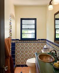 Cute bathroom ideas bathroom mediterranean with spanish tile wall sconce