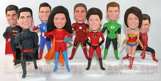 Personalized Superheroes Superhero Custom Bobbleheads Wowbobble Your Personal