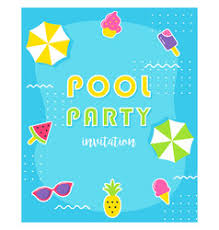 pool splash vector.  Pool Summer Pool Party Poster Or Invitation Card Vector  And Pool Splash Vector S