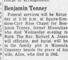 Benjamin Tenney obit - Newspapers.com