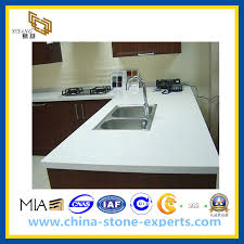 crystal white artifical stone quartz countertop for kitchen yqg cv1005