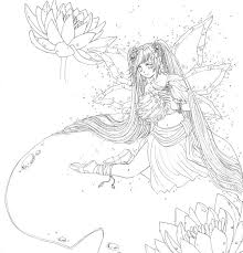Small Picture Fantasy Anime Coloring Pages Coloring Home