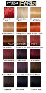 Hicolor Loreal Color Chart Image Result For Hicolor Hilights Color Chart In 2019 Red