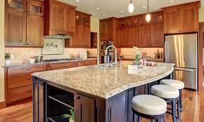 Granite kitchen countertop close up