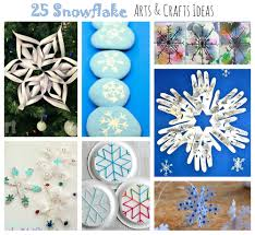 25 snowflake arts and crafts ideas. Winter & Christmas arts and crafts  projects for kids