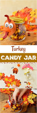 Turkey Candy Jar Thanksgiving Craft For Kids - This candy Jar homemade gift  is perfect for Thanksgiving. Kids can make this easy diy craft to give to  loved ...