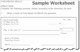 Checkbook Register Worksheet 1 Answers And Checkbook Register
