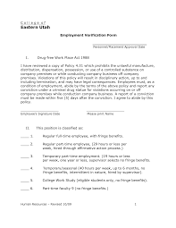 Free Employment Income Verification Letter Template Sample