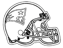 Coloring Pages Football Nfl Helmet Logos Coloring Pages Great Free Clipart Silhouette