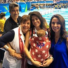 Nicole Johnson Celebrates Michael Phelps' Final Swim with Baby Boomer &  Parents | PEOPLE.com