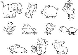 Small Picture Animals For Coloring