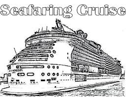 Disney Cruise Ship Coloring Pages Seafaring Mosshippohaven