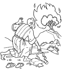 Small Picture New Moses And The Burning Bush Coloring Page P 5993 Unknown